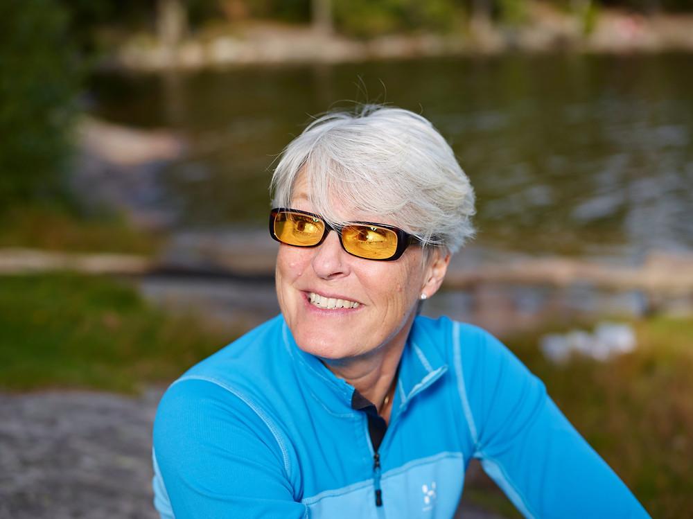 משקפי הגדלה עם פילטר מיוחד לחולי ניוון מקולרי