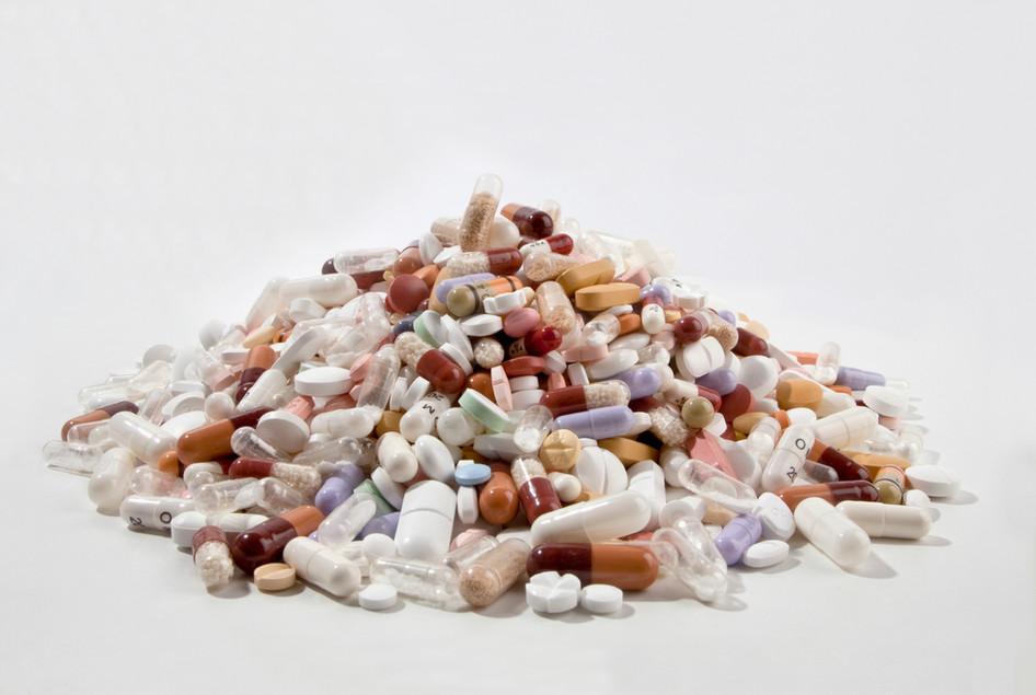Pilha dos comprimidos