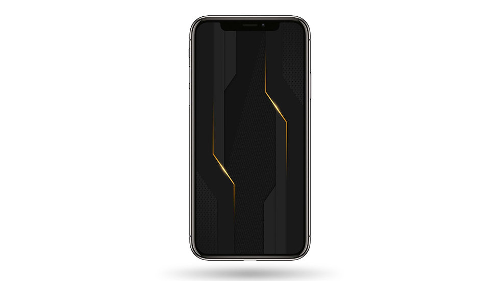 Carbon Fiber Black and Gold High Resolution Smartphone Wallpaper