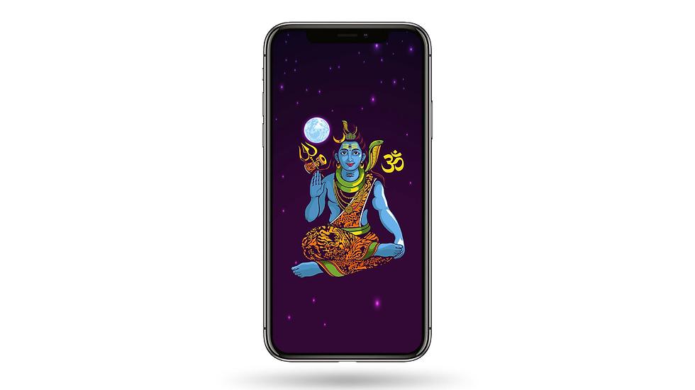Meditating Shiva High Resolution Smartphone Wallpaper
