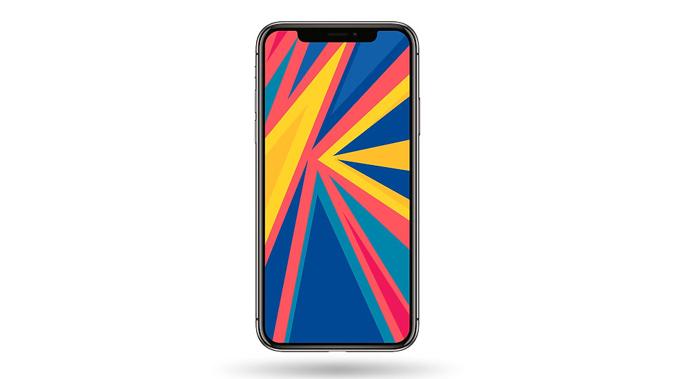 Pop Colour Abstract Design I  High Resolution Smartphone Wallpaper