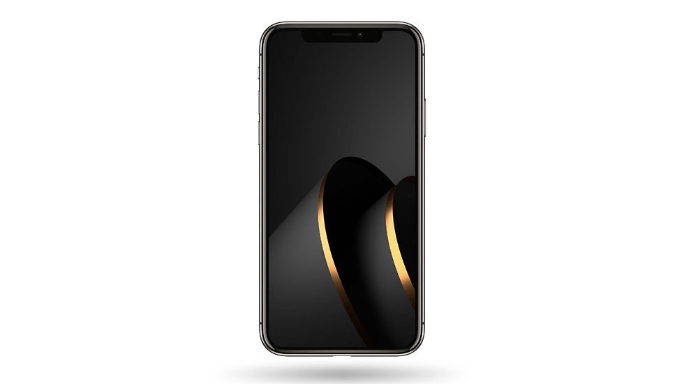 Black And Golden Abstract Design High Resolution Smartphone Wallpaper