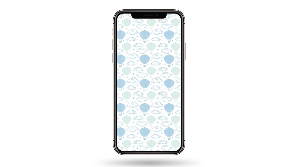 Hot-air Balloon Pattern High Resolution Smartphone Wallpaper