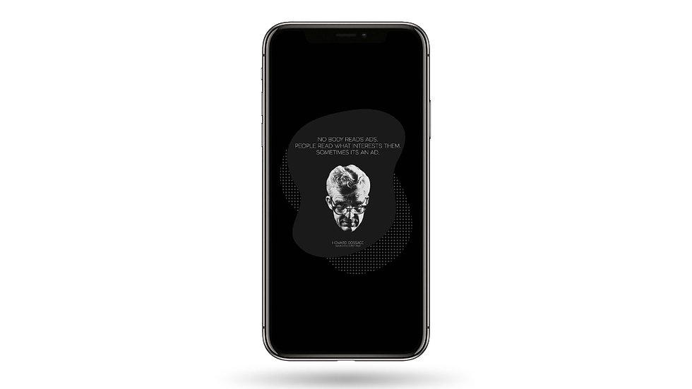 Advertisement Quote High Resolution Smartphone Wallpaper