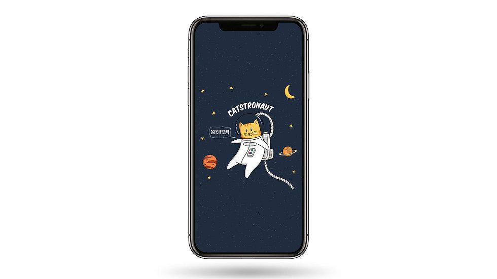 Catsranaut High Resolution Smartphone Wallpaper