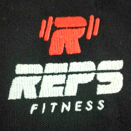 Reps Fitness Logo Embroidery