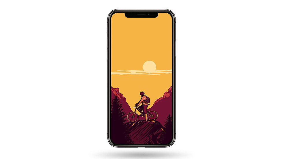 Ride In The Mountains High Resolution Smartphone Wallpaper