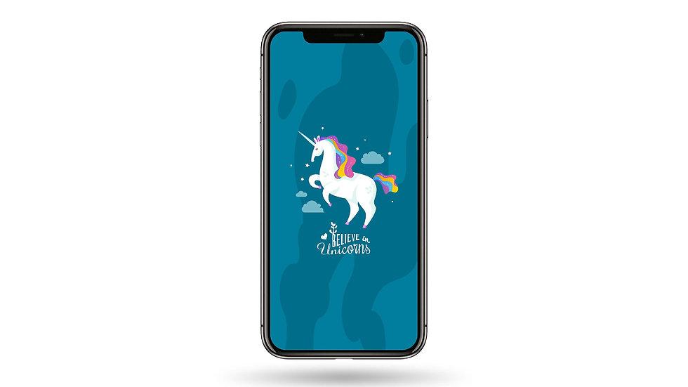 Believe In Unicorns High Resolution Smartphone Wallpaper
