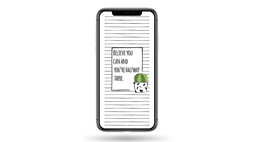 Believe Quote High Resolution Smartphone Wallpaper