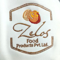 Zelos Food Products Logo Embroidery