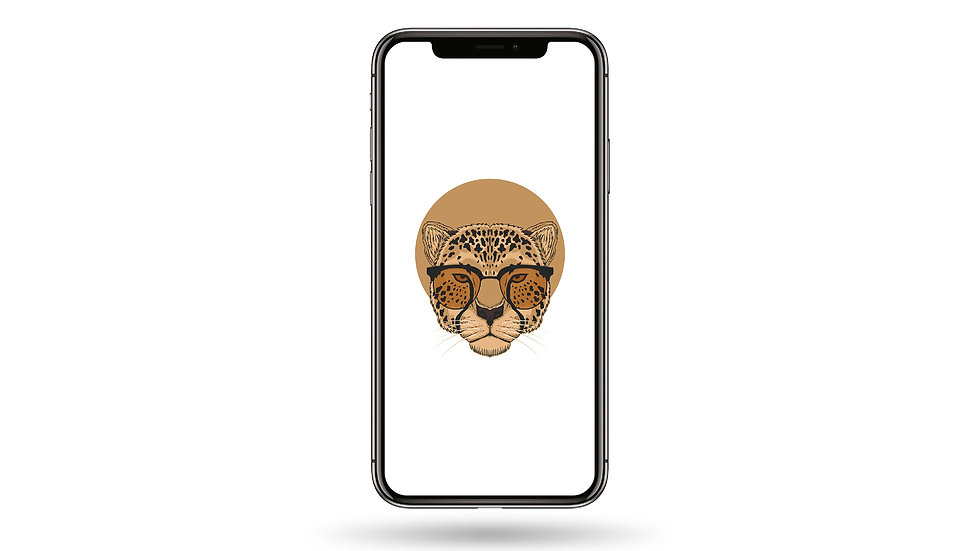 Hipster Cheetah High Resolution Smartphone Wallpaper