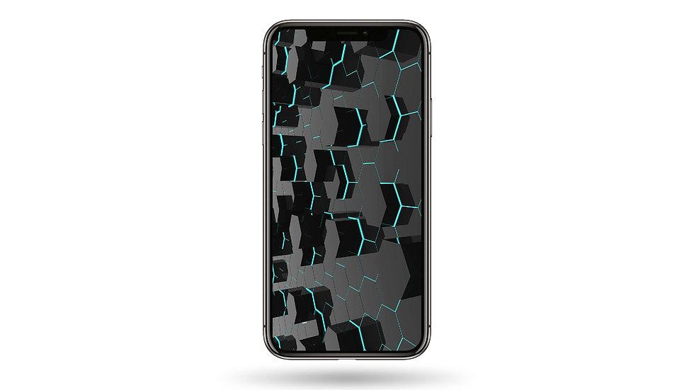 Hexagon Pattern High Resolution Smartphone Wallpaper