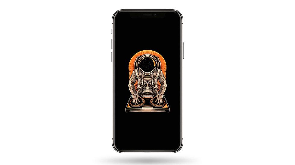 DJ Astronaut High Resolution Smartphone Wallpaper