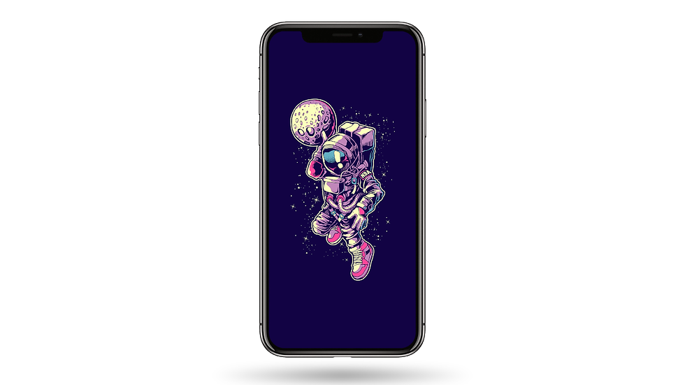 Astronaut Dunk High Resolution Smartphone Wallpaper