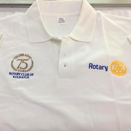 Rotary Club of kolhapur Logo Embroidery