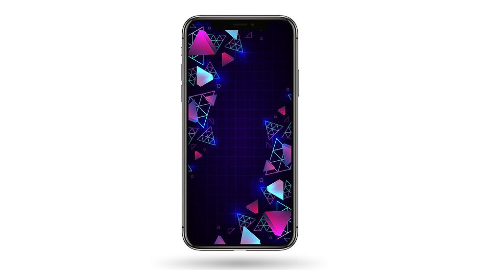 Triangular 3D Pattern High Resolution Smartphone Wallpaper