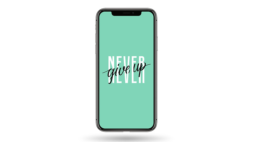 Never Give Up Quote High Resolution Smartphone Wallpaper