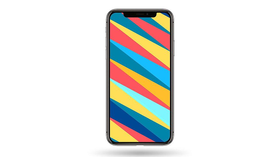 Pop Colour Abstract Design III High Resolution Smartphone Wallpaper