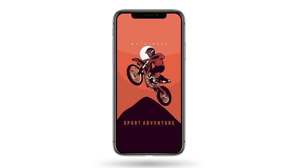 Motocross Sports Adventure High Resolution Smartphone Wallpaper