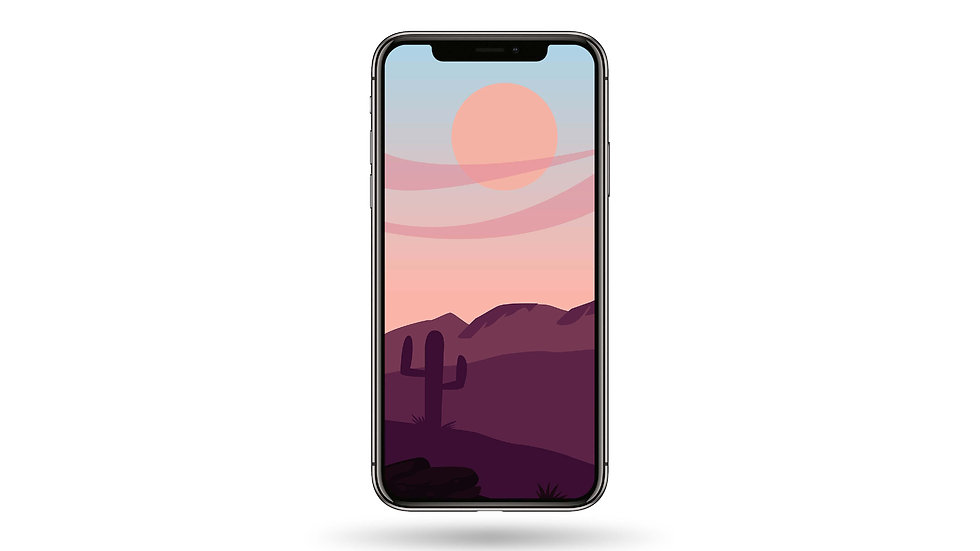 Desert Landscape High Resolution Smartphone Wallpaper