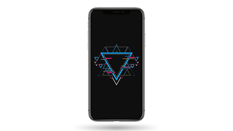 Triangular Illustration High Resolution Smartphone Wallpaper