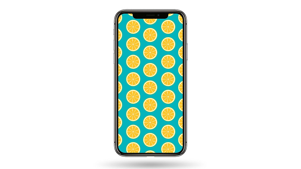 Lemon Pattern High Resolution Smartphone Wallpaper
