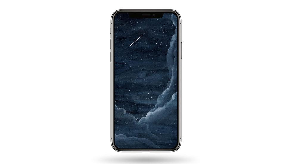 Shooting Star High Resolution Smartphone Wallpaper