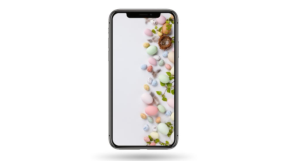 Easter Egg Pastel Colour High Resolution Smartphone Wallpaper