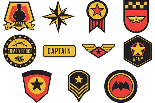 Army Iron On Garment Stickers