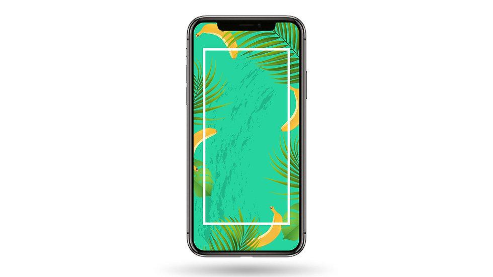 Banana Frame High Resolution Smartphone Wallpaper