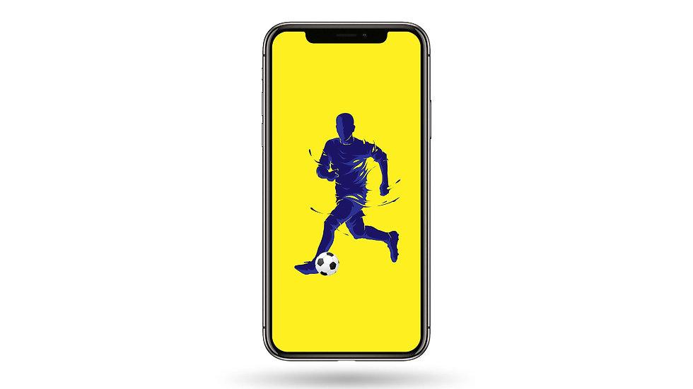 Football Player High Resolution Smartphone Wallpaper