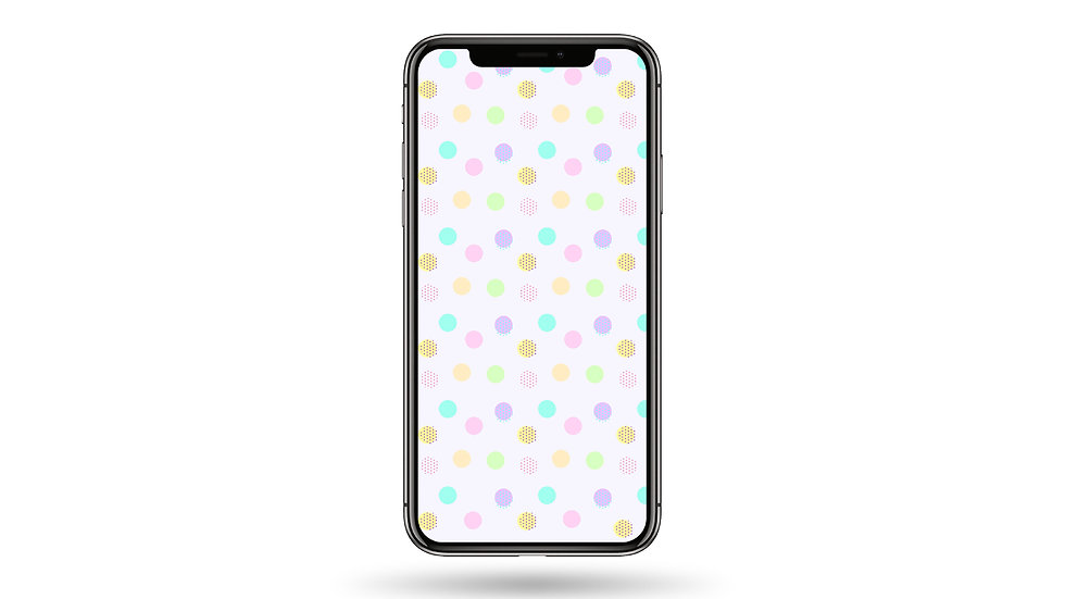 Pastel Polka Dots Pattern High Resolution Smartphone Wallpaper