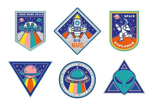 Mars Iron On Garment Stickers