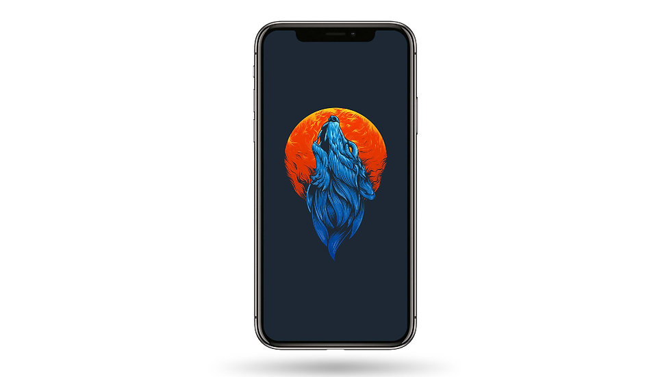 Full moon Wolf High Resolution Smartphone Wallpaper