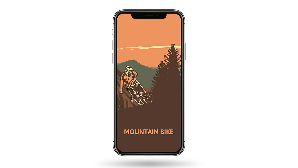 Mountain Bike High Resolution Smartphone Wallpaper