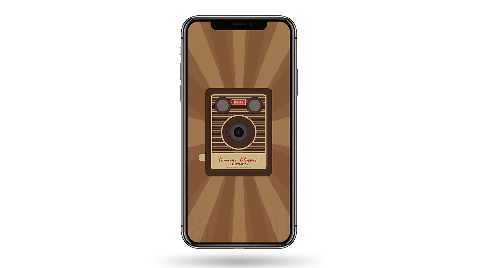 Vintage Camera High Resolution Smartphone Wallpaper