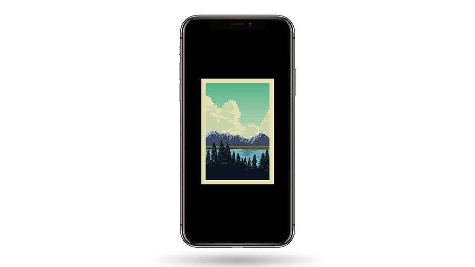 Nature Window II High Resolution Smartphone Wallpaper