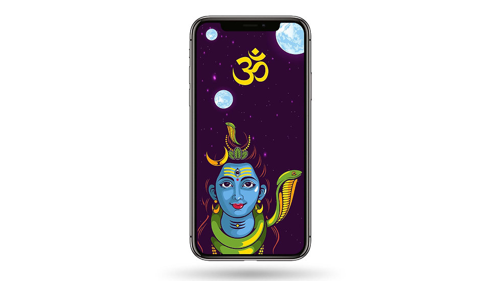 Om Shiva High Resolution Smartphone Wallpaper