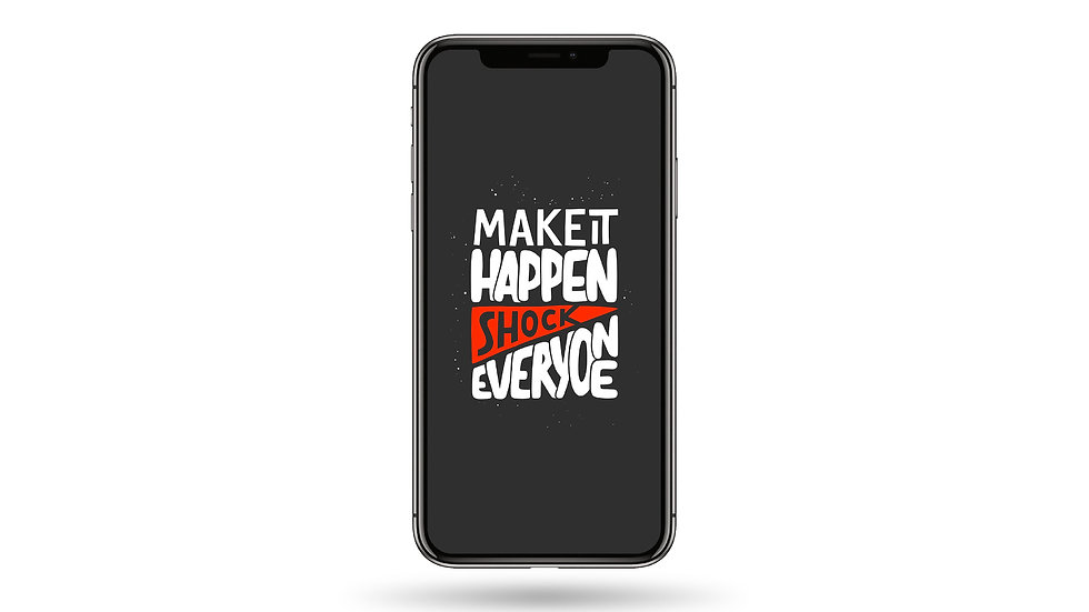 Make it Happen Quote High Resolution Smartphone Wallpaper