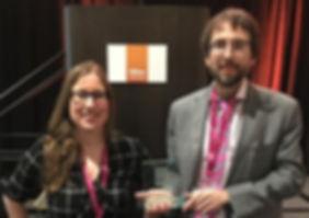 Accepting GiGse Award
