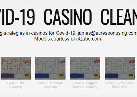 Modeling cleaning strategies in casinos for Covid-19