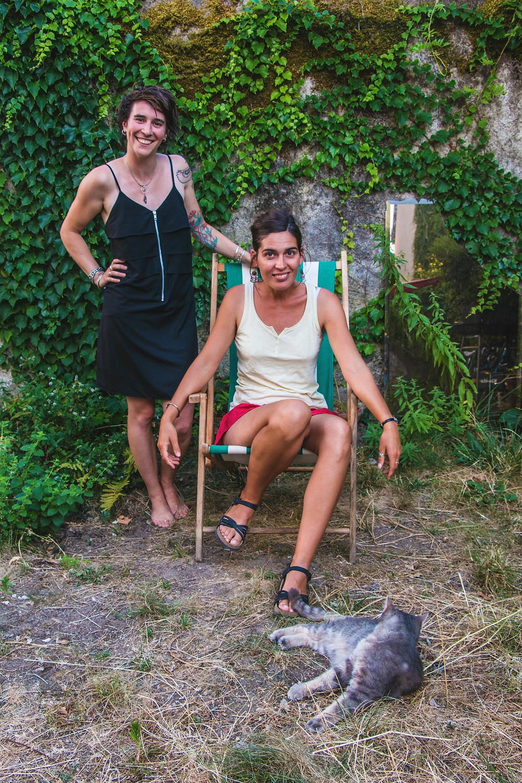 Axelle Glaie, Emilie Cousteix - Août 2020 © Mathilde Baron-Harjani.