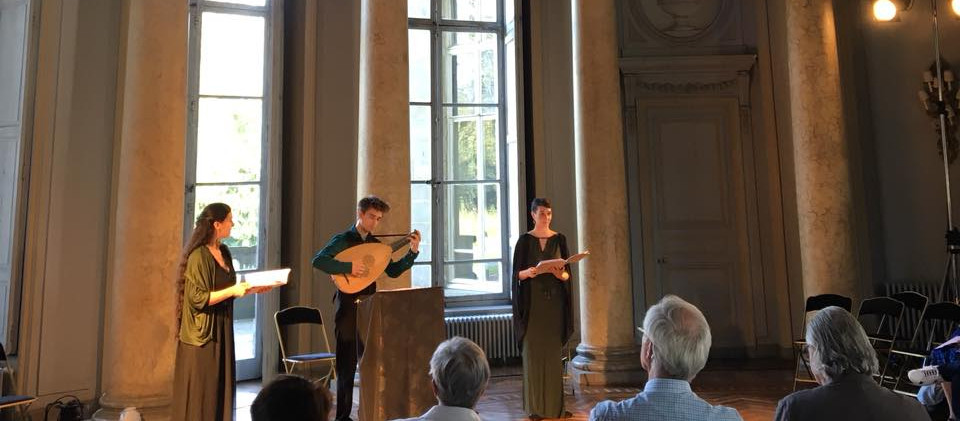Ensemble l'Angélique pour Sylvan Ballads au Château de l'Hermitage (Festival Embaroquement immédiat) Août 2018 © Oriane Laurent