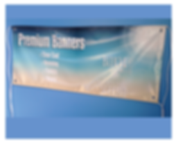 Banner, wall banner, outdoor banner, ropes, eyelets