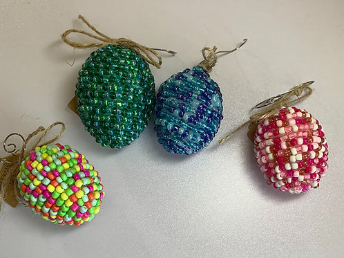 Beaded Egg Ornament