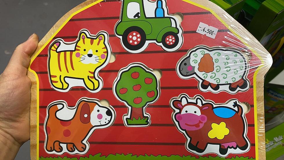 Puzzle en bois la ferme