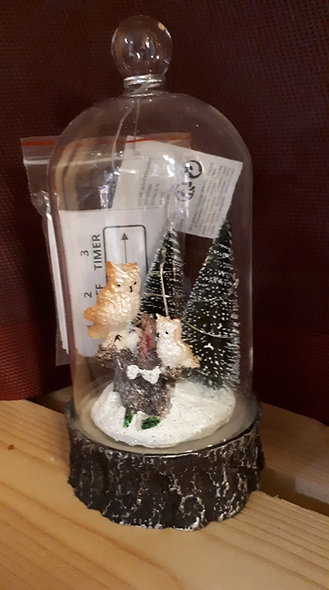 Cloche décors Noel a led
