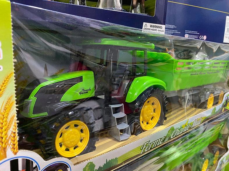 Tracteur avec remoroque