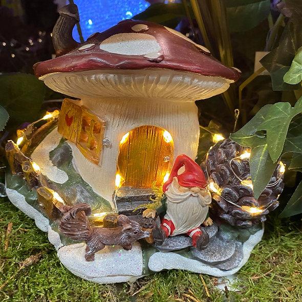 Maisonnette champignon lumneuse
