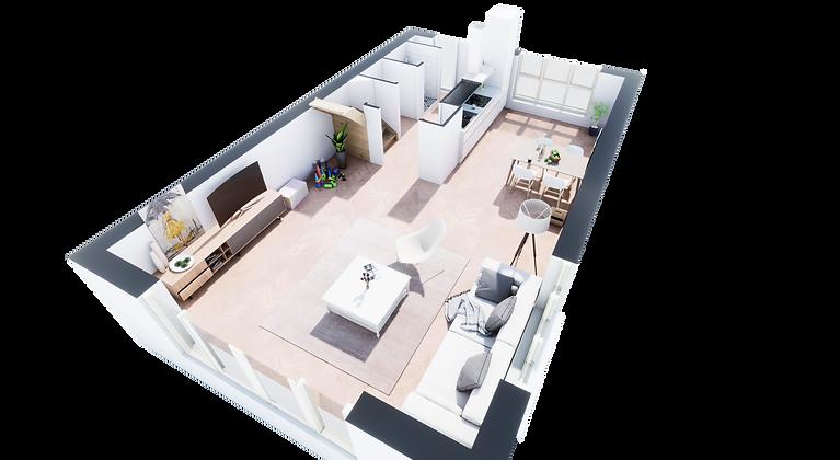3D plattegrond | virtueel | artist impression | impressie | interieur | interior | game | aplicatie | 3D | plattegrond | plattegronden | HAN Visuals | HAN | Visuals |